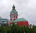 Gay flag on St James Church - Stockholm, Sweden - panoramio.jpg