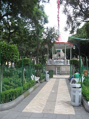 Tlalpan - Kiosk in the Jardin Principal