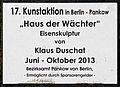 Gedenktafel Breite Str 37 (Panko) Haus der Wächter Klaus Duschat.jpg