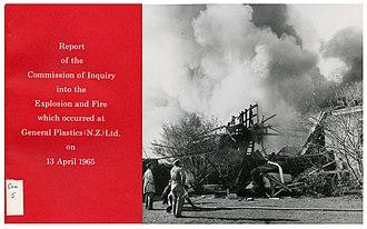 Masterton - General Plastics (N.Z.) Ltd. Explosion and Fire (1965)