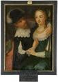 Genrescen kallad Gustav II Adolf, 1594-1632, kung och Ebba Brahe, 1596-1674 - Nationalmuseum - 16043.tif