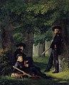 Georg Friedrich Kersting - Theodor Körner, Friedrich Friesen und Heinrich Hartmann auf Vorposten (1815).jpg