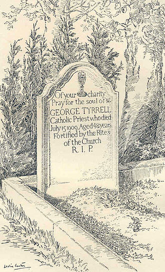 George Tyrrell - The stone erected at the grave of George Tyrrell