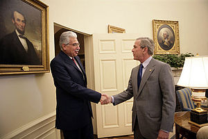 Ahmed Nazif - Nazif with George W. Bush