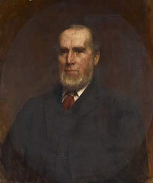 George Holt (merchant) - George Holt, junior. Oil on canvas, 1892, by Robert E. Morrison