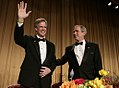 George W. Bush joins Tony Snow at the White House Correspondents Dinner.jpg