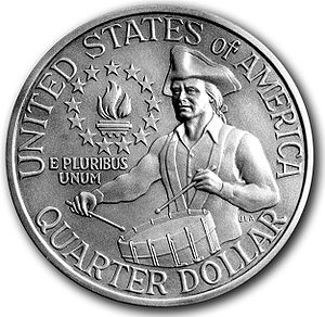 Commemorative coin - The US bicentennial quarter is an example of a true commemorative coin.