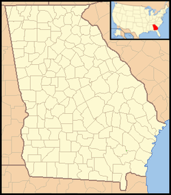 Rydal, Georgia is located in Georgia (U.S. state)