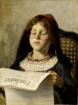 Georgios Jakobides Girl reading c1882