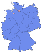 German Federal Election - Party list vote results by state - 2013.png