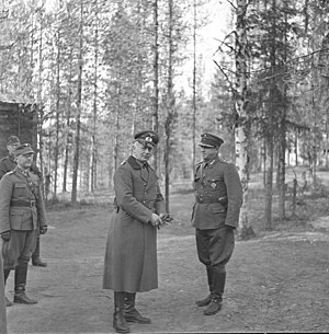 Hans Feige - Hans Feige with Finnish 6th Division commander colonel Werner Viikla