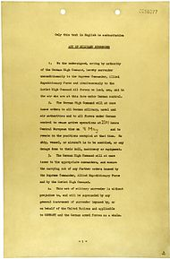 German Instrument of Surrender (May 7, 1945) - page 1.jpg