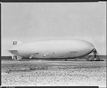 """German airship """"Hindenburg"""" at Lakehurst, New Jersey. - NARA - 518856.tif"""