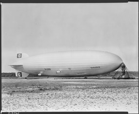 "German airship ""Hindenburg"" at Lakehurst, New Jersey. - NARA - 518856.tif"