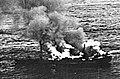 Alsterufer burning after a RAF bomber attack