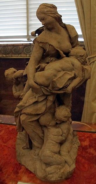 Charity with Four Children - Image: Gianlorenzo bernini, bozzetti della collezione chigi, carità, 1627 28