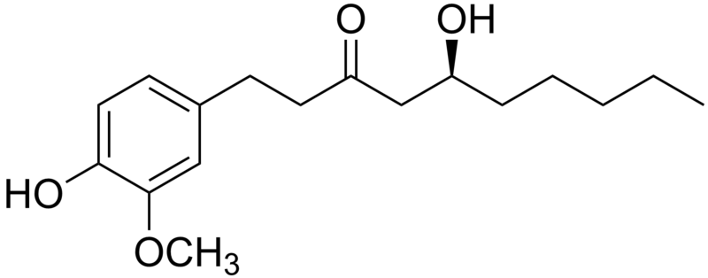 Gingerol compound (Wikimedia Commons)
