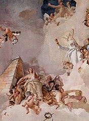 Fresken im königlichen Palast von Madrid, Szene: Lobpreisung Spaniens, Detail
