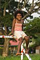 Girl on a Goalpost Vanuatu.jpg