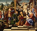 Girolamo da Santacroce - The Adoration of the Three Kings - Walters 37261 (2).jpg