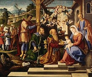 Girolamo da Santacroce - Adoration of the Magi