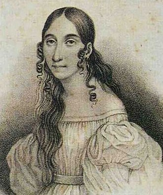 Nabucco - Soprano Giuseppina Strepponi, the first Abigaille, c. 1840