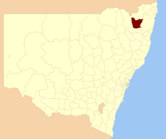 Glen Innes Severn - Location in New South Wales
