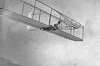 Gliding flight, Wright Glider, Kitty Hawk, NC. 1902.10459 A.S..jpg