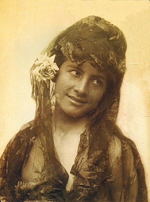 Transvestism - A Sicilian boy cross-dressing as a Spanish woman, photographed by Wilhelm von Gloeden in the late 19th century