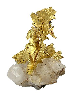 Alba County - Gold in quartz, Roșia Montană. Size 4.3 × 2.7 × 1.3 cm.