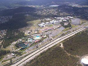Pacific Motorway (Brisbane–Brunswick Heads) - M1 Motorway as it passes through the Gold Coast