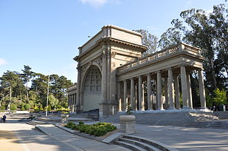 Golden Gate Park - Spreckels Temple of Music on the Music Concourse.