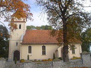 Gołębice - Village church
