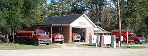 Goodbee, Louisiana - The Goodbee Volunteer Fire Department Hamilton Station offers firefighting services to a rural area of west Saint Tammany Parish, Louisiana. Shown is the original fire house, which was replaced by a larger facility in 2011.