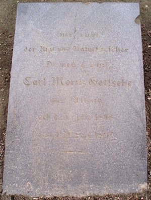 Carl Moritz Gottsche - Grave marker of Gottsche at Friedhof Norderreihe Hamburg-Altona