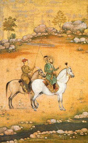 Govardhan (Mughal painter) - Image: Govardhan. Shah Jahan and Dara Shikoh ca. 1638. Victoria and Albert Museum