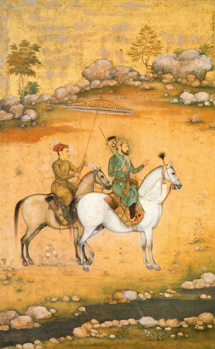 Govardhan. Shah Jahan and Dara Shikoh ca. 1638. Victoria and Albert Museum