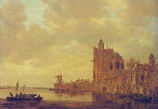 River Landscape with Castle ruins