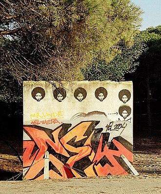 Barbate - Image: Graffiti Los Canos 2004