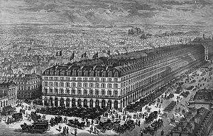 Charles Rohault de Fleury - Grand Hôtel du Louvre in 1877