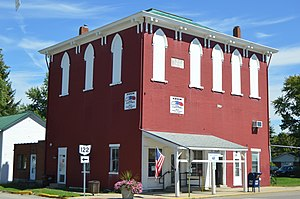 Gratis, Ohio - Post office and IOOF lodge