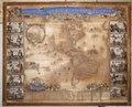 Graverad och handkolorerad karta över Amerika från 1670-1690 - Skoklosters slott - 95152.tif