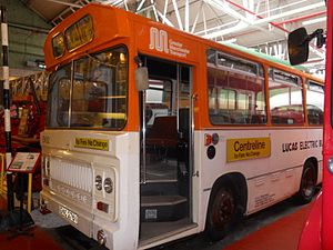 Metroshuttle - Greater Manchester Transport Centreline bus on display at the Museum of Transport, Greater Manchester