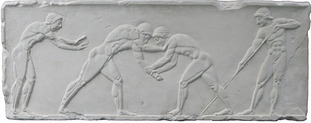 Greek relief of pentathlon 500 bC