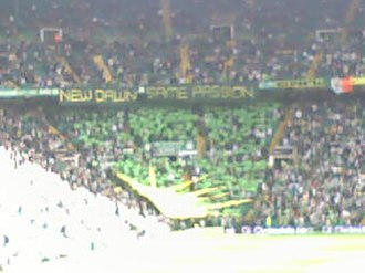 Green Brigade - Green Brigade tifo display on 13 August 2011