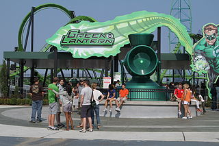 Green Lantern (Six Flags Great Adventure) Stand-up roller coaster at Six Flags Great Adventure