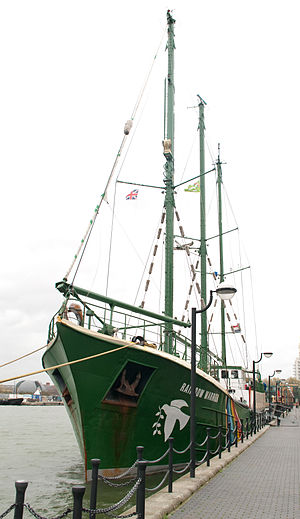 Rainbow Warrior (1957) - Image: Greenpeace Rainbow warrior 2