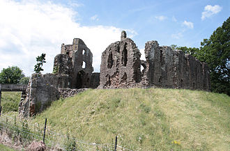 Grosmont Castle - The hall, seen from the south-east