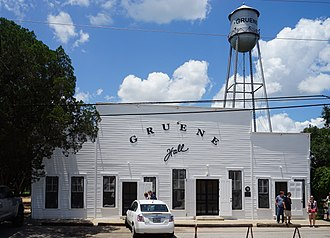 Gruene, New Braunfels, Texas - Gruene Hall, built in 1878, is one of the oldest dance halls in Texas.