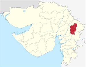 Panchmahal district - Image: Gujarat Panchmahal district